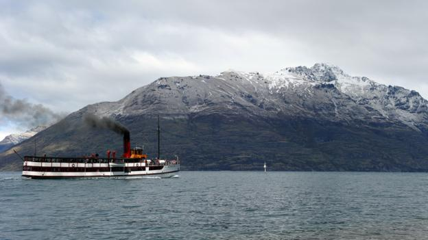 The steam ship Earnslaw on Queenstown's Lake Wakatipu (Credit: Paul Ellis/AFP/Getty Images)