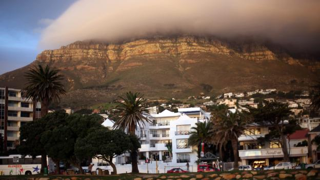 Table Mountain shrouded in mist (Credit: Dan Kitwood/Getty)
