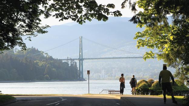 A view of the Lions Gate Bridge (Credit: Bruce Bennett/Getty)
