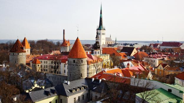 Tallinn and its many towers, including Olav's Church (Credit: Paul Sullivan)