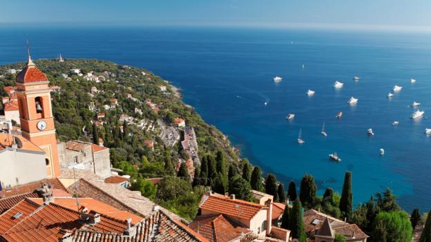 The Cote d'Azure's renowned ocean views (Credit: Lottie Davies)