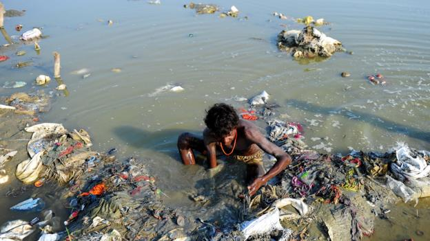 Polluted Supply (Credit: Sanjay Kanojia/Getty Images)