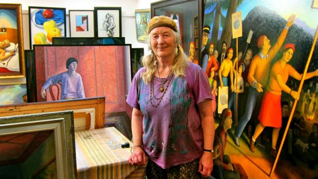 Artist Diana Dean (Credit: John Lee)