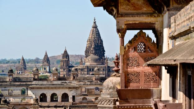 The towers of Orchha Fort (Credit: Julien Pons/Getty)