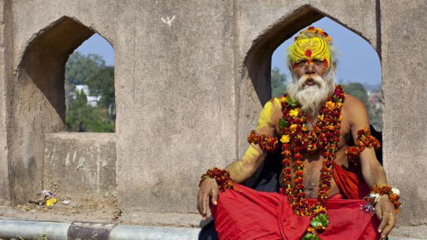 Portrait of a sadhu (Credit: EyesWideOpen/Getty)