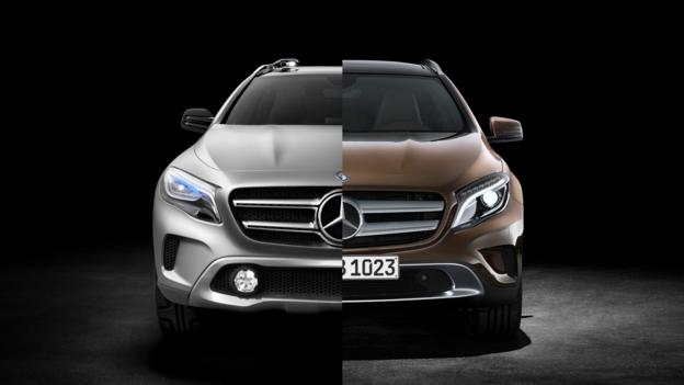 Crossed-over (Credit: Mercedes-Benz USA)