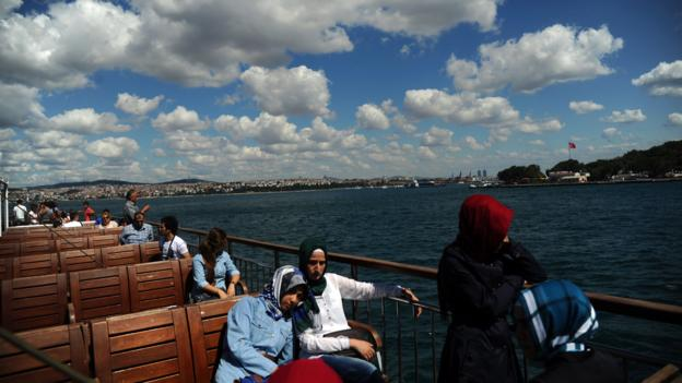 Ferry across the Bosphorus (Credit: Bulent Kilic/AFP/Getty Images)