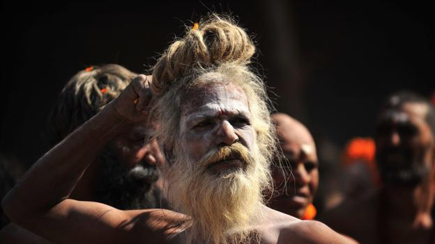 Naga sadhu, a Hindu holy man (Credit: AFP/Getty Images)