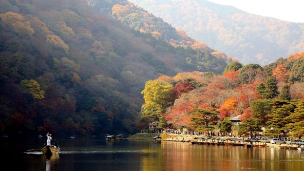 Autumnal colours in Kyoto (Credit: Getty Images)