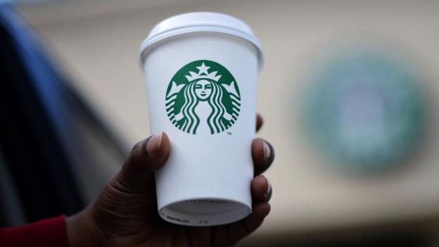 A Starbucks cup