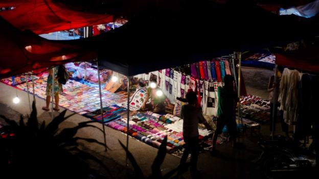 The night market in Luang Prabang (Credit: Megan Ahrens/Getty)