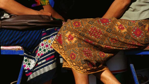 Many Laotian textiles are made into skirts (Credit: Tom Cockrem/LPI/Getty)