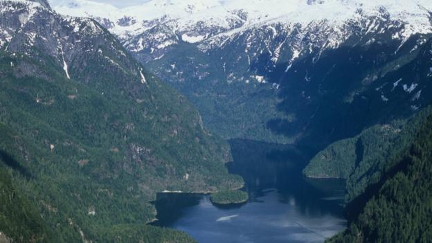 Aerial view of Princess Louisa Inlet (Credit: Dean van't Schip/Getty)