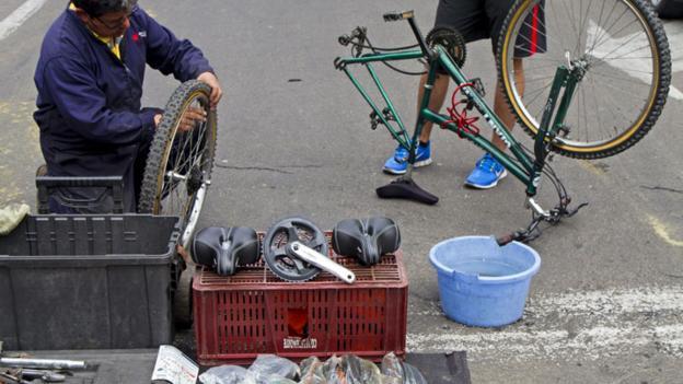 Bike repairs (Credit: Andrew Bain)