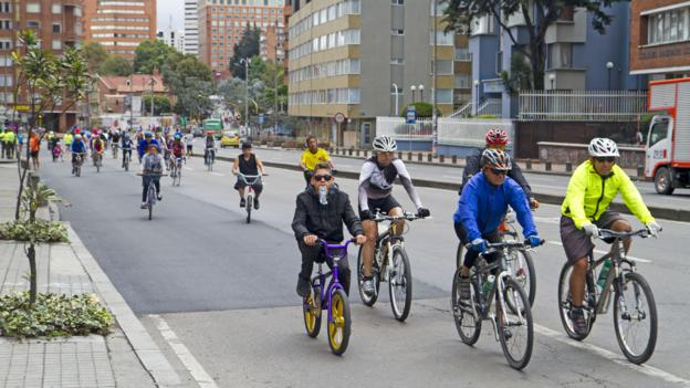 Cycling down La Septima (Credit: Andrew Bain)