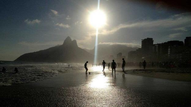 Football on Ipanema (Credit: Pamela Gupta)
