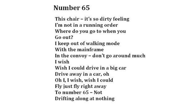 Number 65, Blanche (Credit: Poem: Living Words, Photo: Julia Miranda/Living Words)