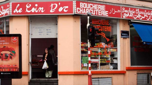 Le Coin d'Or Halal butcher in St Josse (Credit: LPI/Getty)