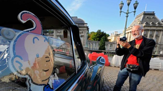 The 2013 Tintin magazine car rally (Credit: John Thys/AFP/Getty)