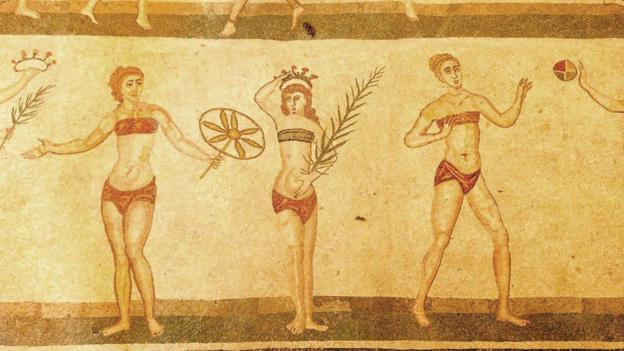 Roman bathers (Credit: Jos Dielis/Flickr)