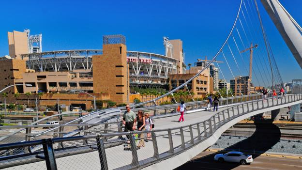A view of Petco Park (Credit: James Blank)