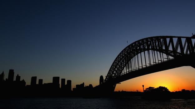 The Sydney Harbour Bridge at sunset (Credit: Getty)