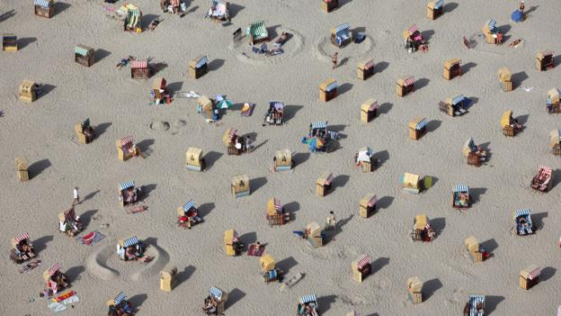 Travemünde beach, north of Hamburg (Credit: AFP/Getty)