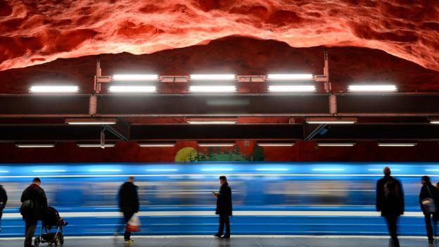 Stockholm's inventive subway art (Credit: AFP/Getty)