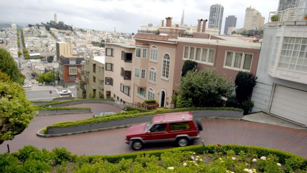 San Francisco's famously winding Lombard Street (Credit: Getty)