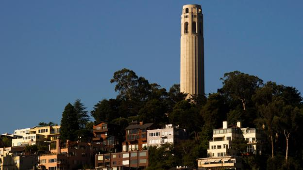 The Coit Tower (Credit: AFP/Getty)