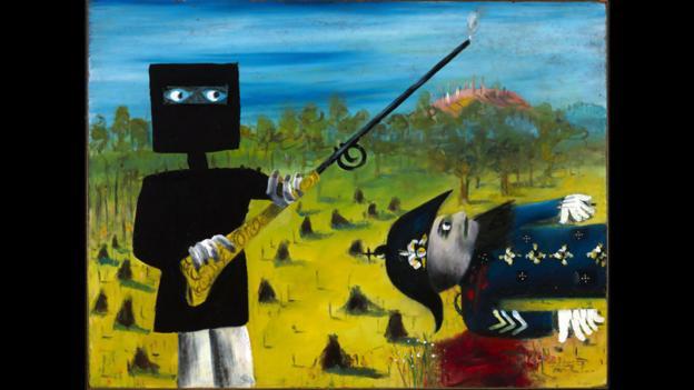 Masked brawl (Credit: National Gallery of Australia)