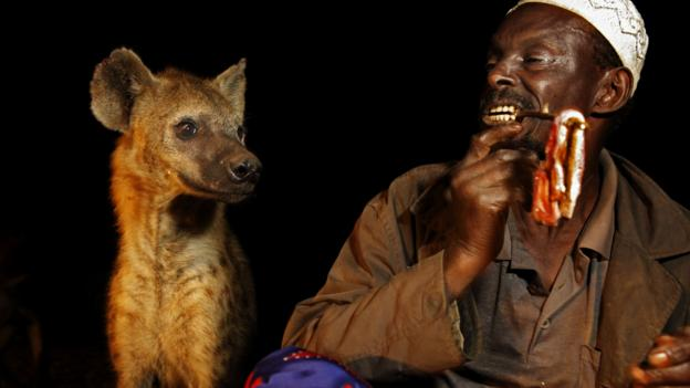 The hyena men of Harar (Credit: Johnny Haglund/Getty)