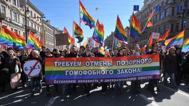 Controversial laws (Credit: Olga Maltseva/AFP/Getty)