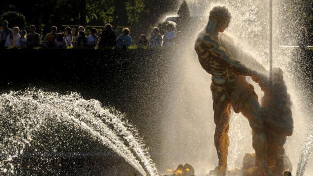 The Grand Cascade fountain at Peterhof Palace (Credit: Olga Maltseva/AFP/Getty)