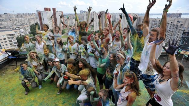 The Festival of Colors (Credit: Olga Maltseva/AFP/Getty)