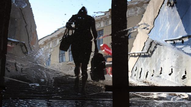 A reflection in St Petersburg (Credit: Kirill Kudryavtsev/AFP/Getty)