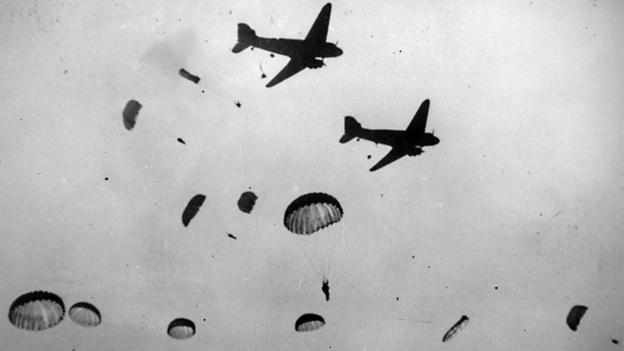 Airborne invasions (Credit: Keystone/Getty)