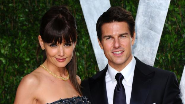 Katie Holmes,Tom Cruise before their 2012 divorce. (Alberto E. Rodriguez/Getty Images)