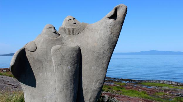 Grey and ghostly figures outside Kamouraska (Credit: Graeme Green)