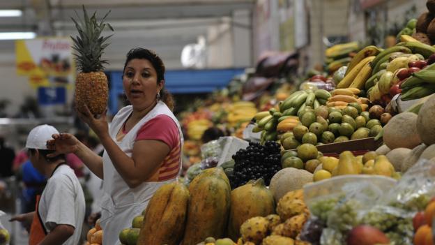 A market in northern Quito (Credit: Rodrigo Buendia/AFP/Getty)