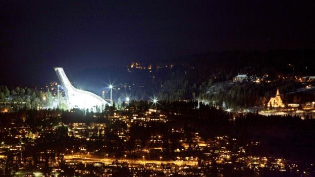 Holmenkollen Ski Jump Arena, Oslo (Credit: Stian Lysberg Solum/AFP/Getty Images)