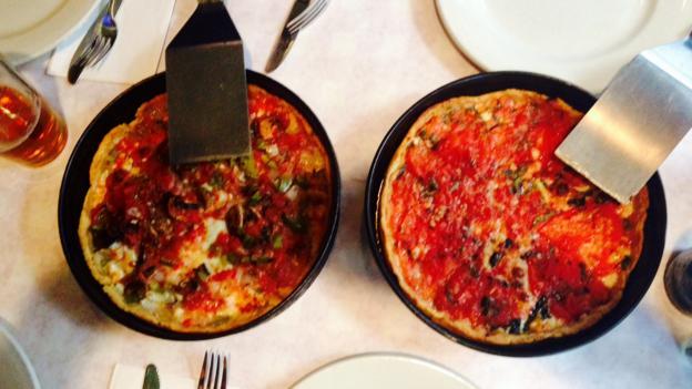 Deep dish at Pizano's (Credit: Caitlin Zaino)