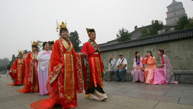 Han-style wedding at the Big Wild Goose Pagoda (Credit: Getty Images)