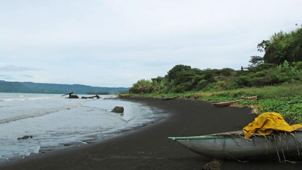 The ash-black sand of Rabaul's beaches (Credit: Emily Saladino)