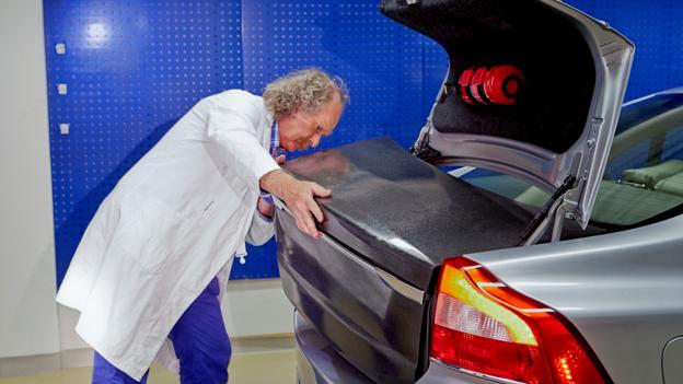 Volvo's battery on the boot (Credit: Volvo Cars)