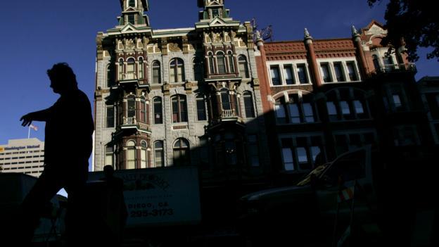 Buildings in the historic Gaslamp Quarter (Credit: Sandy Huffaker/Getty)