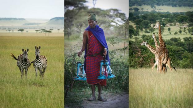 Staff light the way at Olakira Camp (Credit: Colleen Clark)