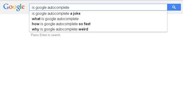 Is Google autocomplete...