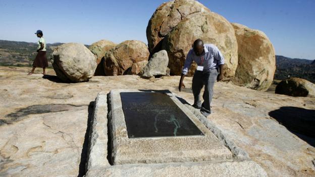 Cecil Rhodes grave (Credit: AFP/Getty Images)