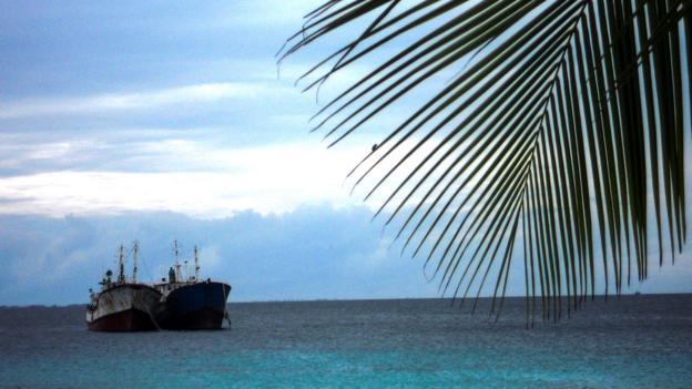 Ships in the Majuro lagoon (Credit: Sameena Jarosz)